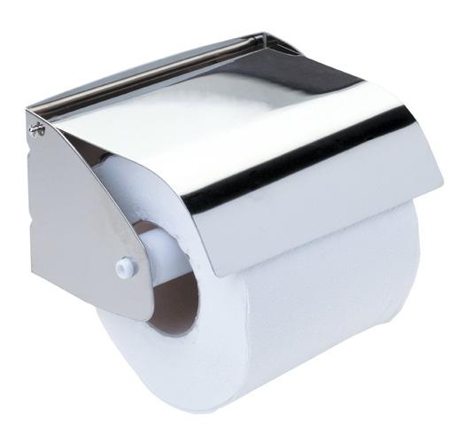 Portarrollos individual con fald n inox aisi 304 for Accesorios para bano papel higienico