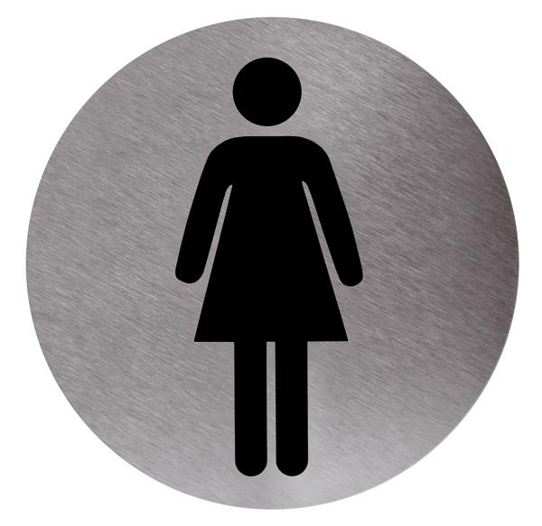 Baños Quimicos Elegantes:Cartel indicativo adhesivo baño mujer