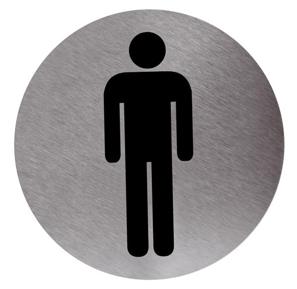 Cartel ba o hombre adhesivo cimetres - Cartel bano ...
